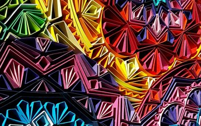 Rainbow Mandalas - Detail