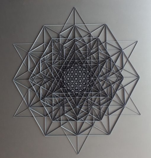 Large Geometric Paper Artwork - Clarity (grey)