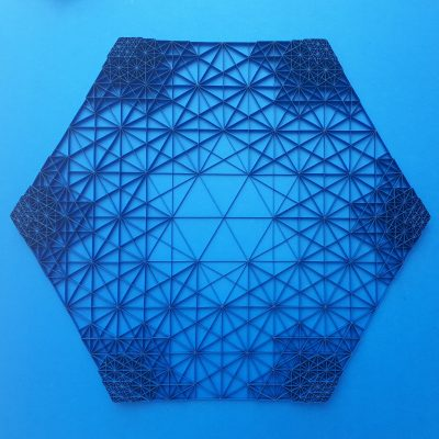 Large Geometric Paper Artwork - IFNITY (blue)