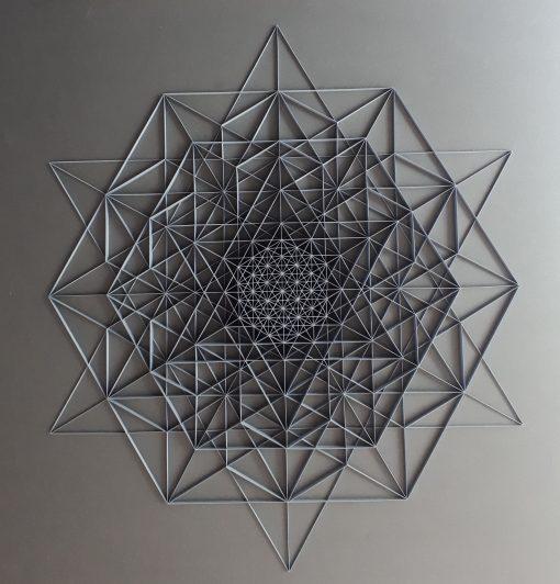 Large Geometric Paper Artwork - Clarity (grey)