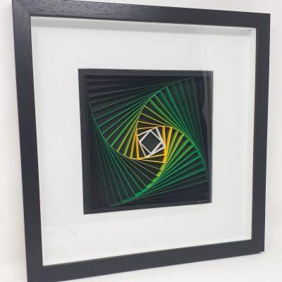 paper artwork green/yellow square