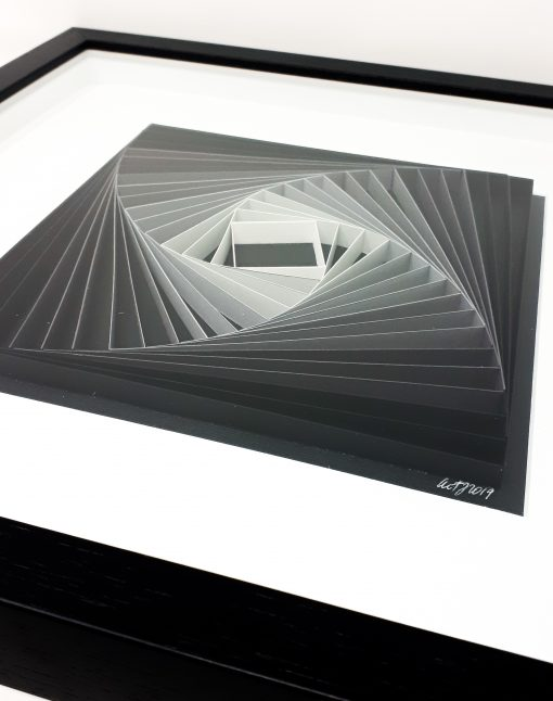 paper artwork grey square