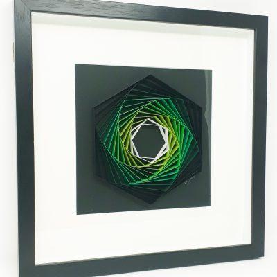 Paper Artwork Green Hexagon