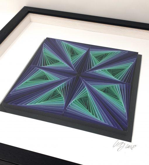 paper artwork purple/turquoise zentagle