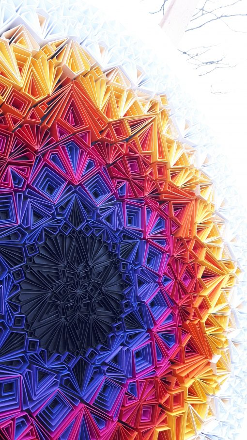 Large Geometric Paper Artwork - YOU ARE ALL WELCOME (colourful)